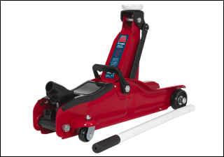 Award Winning Trolley Jack 2tonne Low Entry Short Chassis Sealey Product Image