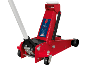 Award Winning Trolley Jack 3tonne SUPER ROCKET LIFT Sealey Product Image