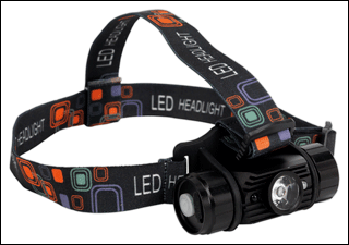 Award Winning 5W CREE XPG LED Rechargeable Head Torch with Auto Sensor Sealey Product Image